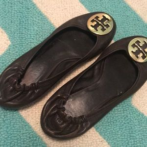 Pair of vintage Tory Burch ballet style flats.